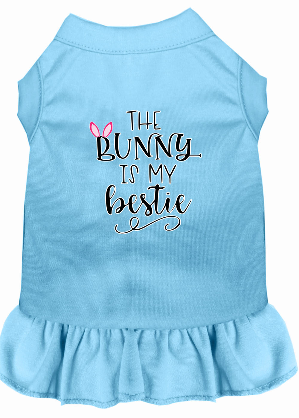 Bunny Is My Bestie Screen Print Dog Dress