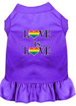 Load image into Gallery viewer, Love Is Love Screen Print Dog Dress