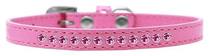 Bright Pink Crystal Size Puppy Collar