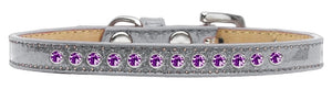 Purple Crystal Size Puppy Ice Cream Collar