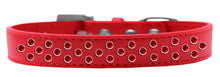 Load image into Gallery viewer, Sprinkles Dog Collar Red Crystals Size