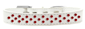 Sprinkles Dog Collar Red Crystals Size