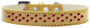 Sprinkles Ice Cream Dog Collar Red Crystals Size