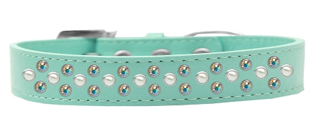 Sprinkles Dog Collar Pearl And Ab Crystals Size