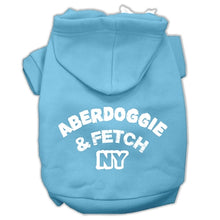 Load image into Gallery viewer, Aberdoggie Ny Screenprint Pet Hoodies Size
