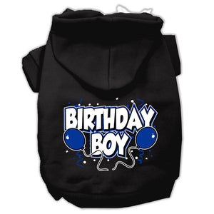 Birthday Boy Screen Print Pet Hoodies Size