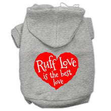 Load image into Gallery viewer, Ruff Love Screen Print Pet Hoodies Size