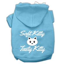 Load image into Gallery viewer, Softy Kitty, Tasty Kitty Screen Print Dog Pet Hoodies Size
