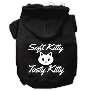 Softy Kitty, Tasty Kitty Screen Print Dog Pet Hoodies Size