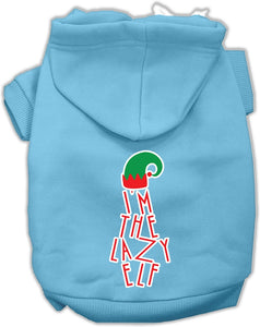Lazy Elf Screen Print Pet Hoodie