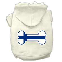 Load image into Gallery viewer, Bone Shaped Finland Flag Screen Print Pet Hoodies