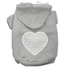 Load image into Gallery viewer, Chevron Heart Screen Print Dog Pet Hoodies Size