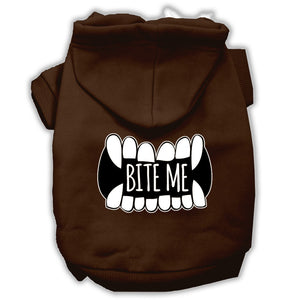 Bite Me Screenprint Dog Hoodie