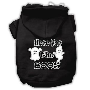 Here For The Boos Screenprint Dog Hoodie