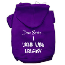 Load image into Gallery viewer, Dear Santa I Went With Naughty Screen Print Pet Hoodies Size