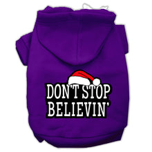 Load image into Gallery viewer, Don't Stop Believin' Screenprint Pet Hoodies Size