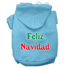 Load image into Gallery viewer, Feliz Navidad Screen Print Pet Hoodies