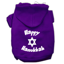 Load image into Gallery viewer, Happy Hanukkah Screen Print Pet Hoodies Size