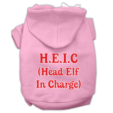 Load image into Gallery viewer, Head Elf In Charge Screen Print Pet Hoodies Size