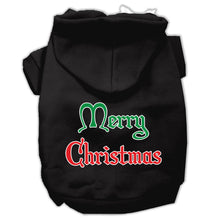 Load image into Gallery viewer, Merry Christmas Screen Print Pet Hoodies Size