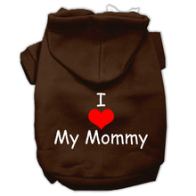 Load image into Gallery viewer, I Love My Mommy Screen Print Pet Hoodies Size
