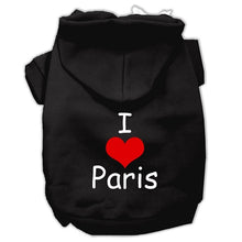 Load image into Gallery viewer, I Love Paris Screen Print Pet Hoodies Size