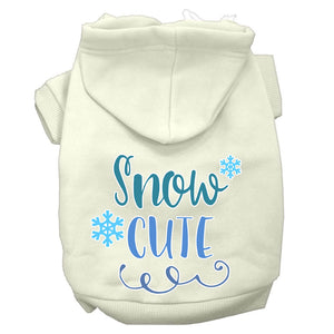 Snow Cute Screen Print Dog Hoodie