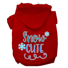 Load image into Gallery viewer, Snow Cute Screen Print Dog Hoodie