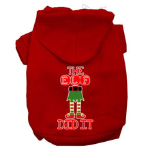 Load image into Gallery viewer, The Elf Did It Screen Print Dog Hoodie