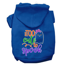 Load image into Gallery viewer, Too Cute To Spook-girly Ghost Screen Print Dog Hoodie