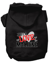 Load image into Gallery viewer, Love Machine Screen Print Dog Hoodie