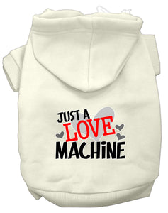 Love Machine Screen Print Dog Hoodie