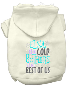 Elsa, The Cold Screen Print Dog Hoodie