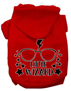 Little Wizard Screen Print Dog Hoodie
