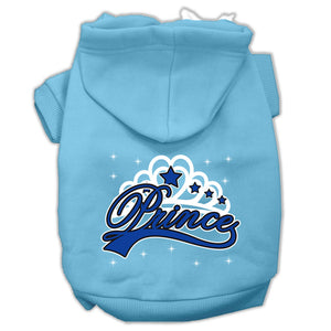 I'm A Prince Screen Print Pet Hoodies Size