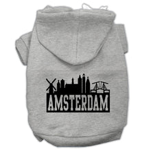 Load image into Gallery viewer, Amsterdam Skyline Screen Print Pet Hoodies Size