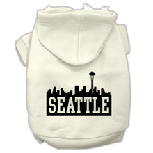 Load image into Gallery viewer, Seattle Skyline Screen Print Pet Hoodies Size
