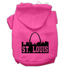 Load image into Gallery viewer, St Louis Skyline Screen Print Pet Hoodies Size