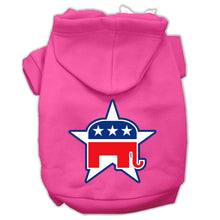 Load image into Gallery viewer, Republican Screen Print Pet Hoodies Size
