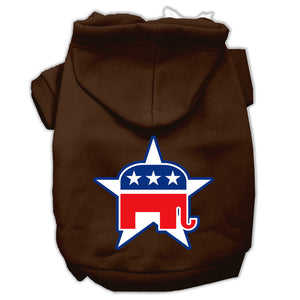 Republican Screen Print Pet Hoodies Size