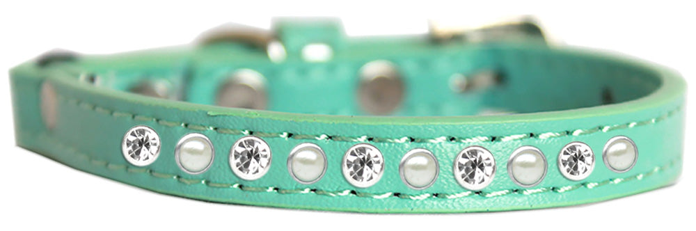 Pearl And Clear Jewel Cat Safety Collar Size