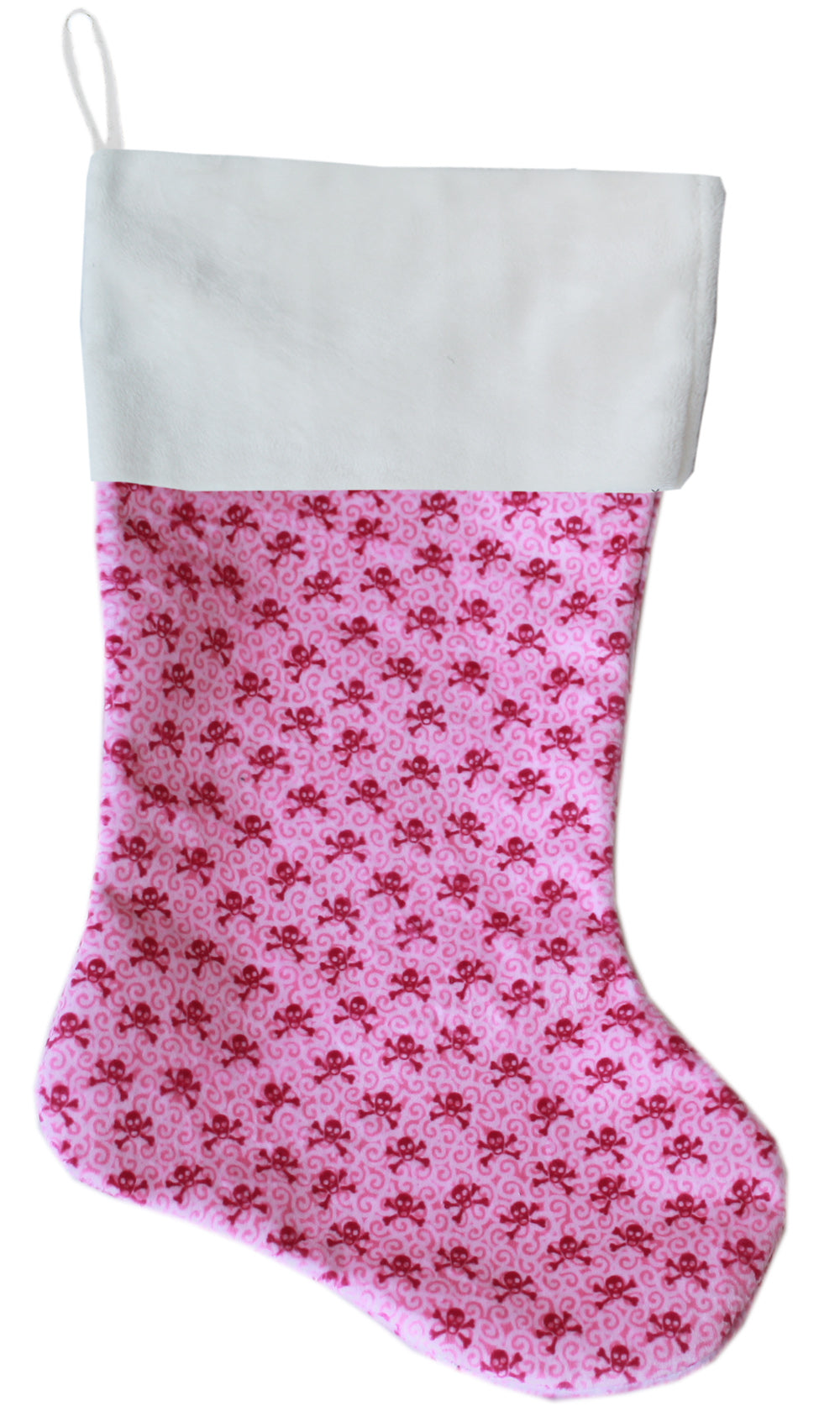 Light Pink Skulls Christmas Stocking