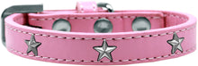 Load image into Gallery viewer, Silver Star Widget Dog Collar Size