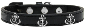Silver Anchor Widget Dog Collar Size