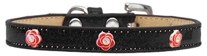 Red Rose Widget Dog Collar Ice Cream Size