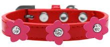 Load image into Gallery viewer, Flower Premium Collar Red With Flowers Size