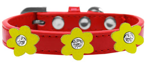 Flower Premium Collar Red With Flowers Size