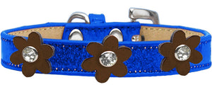 Metallic Flower Ice Cream Collar Blue With Flowers Size