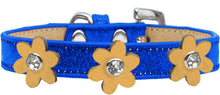 Load image into Gallery viewer, Metallic Flower Ice Cream Collar Blue With Flowers Size