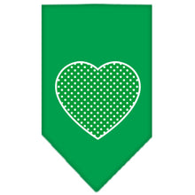 Load image into Gallery viewer, Green Swiss Dot Heart Screen Print Bandana